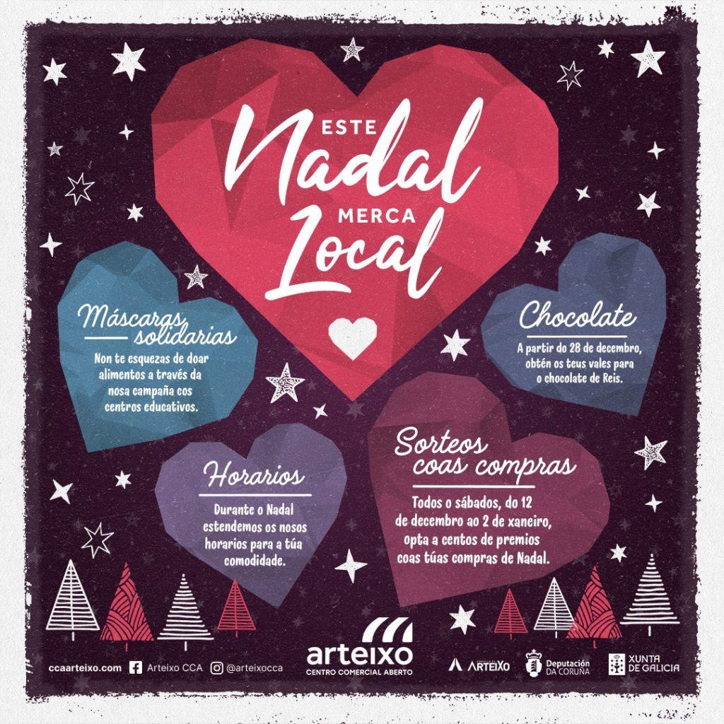 feiron de Arteixo y CCA Arteixo comparten campaña de Navidad