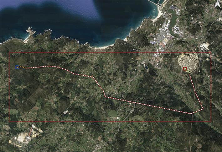 Monteagudo-Moras, trazado eléctrico